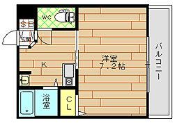 グランソレイユ福島[4階]の間取り