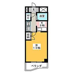 シーフィールド東静岡[6階]の間取り