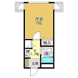 シャルマンフジ 大和高田壱番館[4階]の間取り