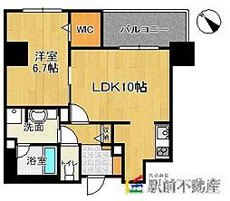 (仮)博多駅東3丁目プロジェクト[2階]の間取り
