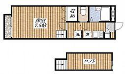 東京都昭島市玉川町3丁目の賃貸アパートの間取り