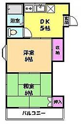 ココ吉川[203号室]の間取り
