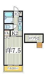 ビューラー初石[2階]の間取り
