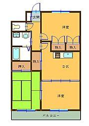 レジデンス山崎[4階]の間取り