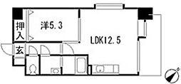 第3中田ビル[7階]の間取り