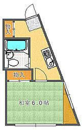 大阪府吹田市千里山西5丁目の賃貸アパートの間取り