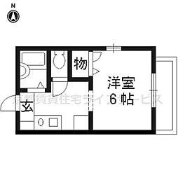 ウエストパープル[2階]の間取り