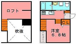 福岡県福岡市博多区半道橋1の賃貸アパートの間取り