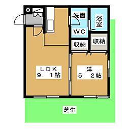 愛知県名古屋市千種区振甫町3丁目の賃貸マンションの間取り