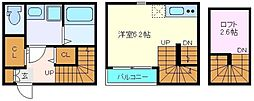 仙台市営南北線 北仙台駅 徒歩12分の賃貸アパート 1階1Kの間取り