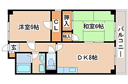 兵庫県神戸市西区枝吉1丁目の賃貸マンションの間取り