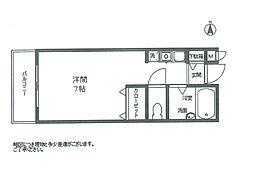加賀山コーポ6号棟[64号室]の間取り