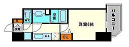 グランカリテ大阪城EAST 7階1Kの間取り