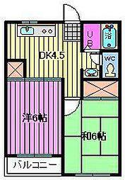 マイネル・ロッジ1[2階]の間取り
