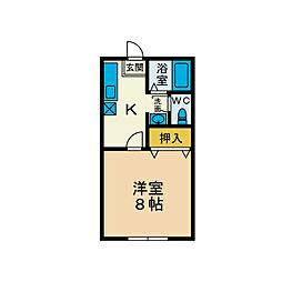レジデンス石田[1階]の間取り
