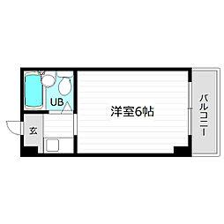 レアレア梅田6番館[3階]の間取り