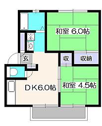 シノシンハイツ3[1階]の間取り