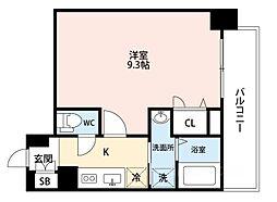 アドバンス大阪ソルテ[3階]の間取り