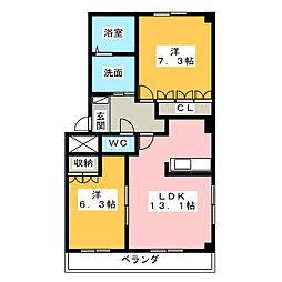 セイントクルーズIII[2階]の間取り