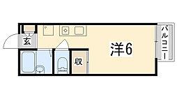 グランボナール下野田[210号室]の間取り