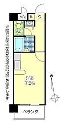 トーカンマンション大分中央[510号室]の間取り