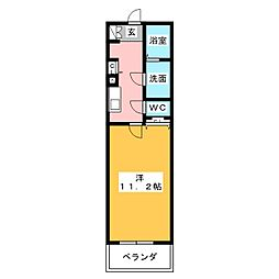 キャッスル常滑 西棟[1階]の間取り