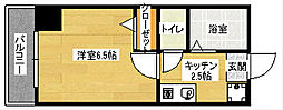 広島県広島市南区比治山町の賃貸マンションの間取り