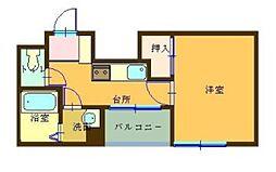 アーバン鳩家[2階]の間取り