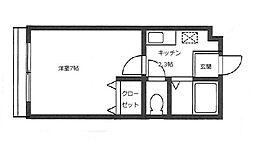 山崎ハイツII[203号室]の間取り