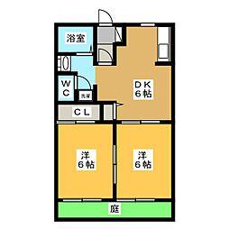 フレグランス東栄B棟[1階]の間取り