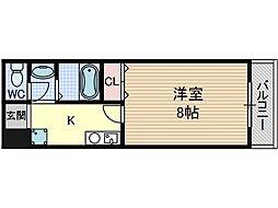 Dorm Ibaroad[4階]の間取り