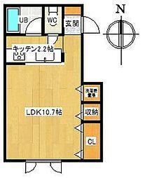 アパートメントS[G号室]の間取り
