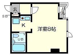 ヴァンルノワール新御堂[2階]の間取り