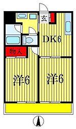 メゾン竹之内[3階]の間取り