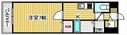 ルクレール天下茶屋[2階]の間取り