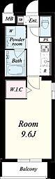 仮称:御園1丁目マンション[201号室]の間取り
