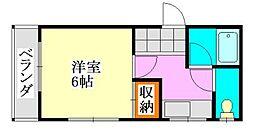 山崎マンション[305号室]の間取り