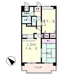 COSMIC ROOM21[2階]の間取り