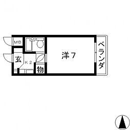 ベルハイム栄町[303号室号室]の間取り