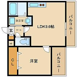 近鉄南大阪線 藤井寺駅 徒歩15分[3階]の間取り