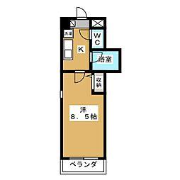 クオーレ京都[5階]の間取り