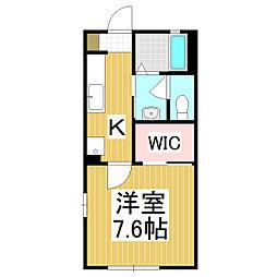 フォーエバー吉澤A棟[1階]の間取り
