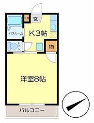 広島県呉市郷原学びの丘2丁目の賃貸マンションの間取り