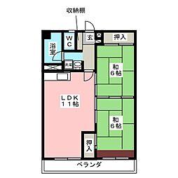 金定ビル[3階]の間取り