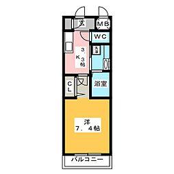 ダ・ヴィンチコート[2階]の間取り