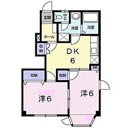 サンライト三屋 A棟[1階]の間取り