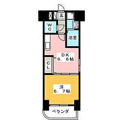 チェリーハイム高宮[5階]の間取り
