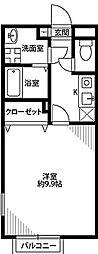 アムールELVIS[1階号室]の間取り