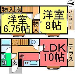 [テラスハウス] 東京都江戸川区大杉2丁目 の賃貸【/】の間取り