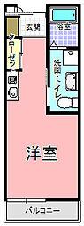 ご隠居長屋 和楽久 プロシード赤塚 1階ワンルームの間取り